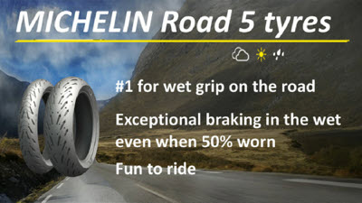 TyreMarks of Tavistock offer the Michelin Road 5 range of tyres